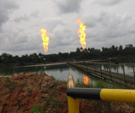 Gas flaring nel Delta del Niger