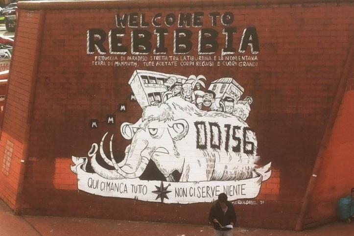 graffito murales zerocalcare rebibbia